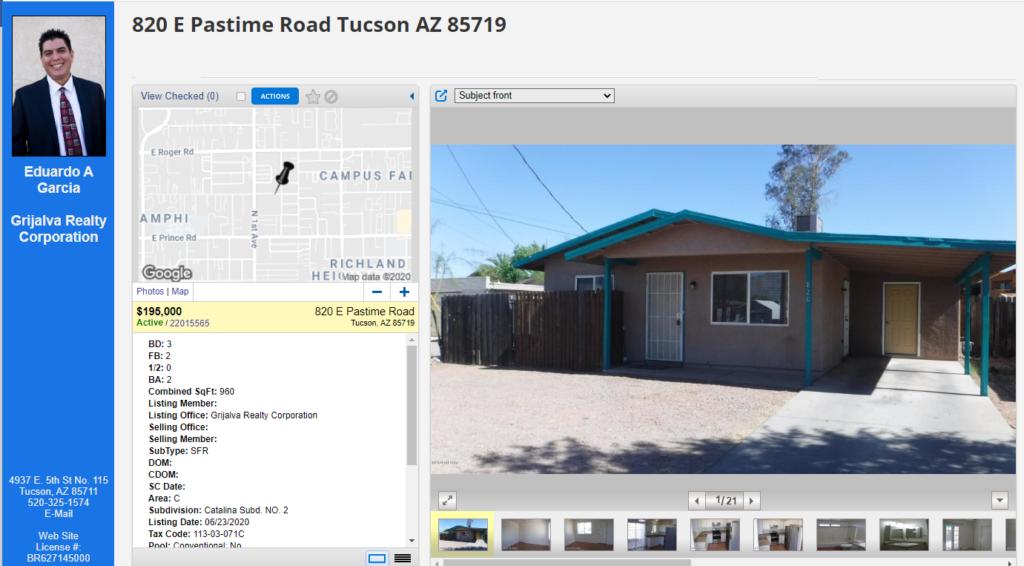 House for Sale - 820 E Pastime Rd, Tucson, AZ 85719